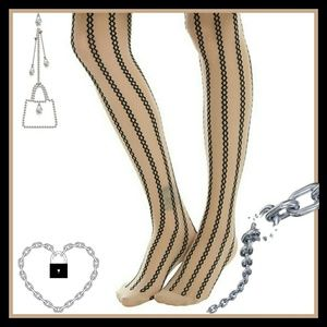 Blackheart Chain Stripe & Polka Dot Sheer Tights